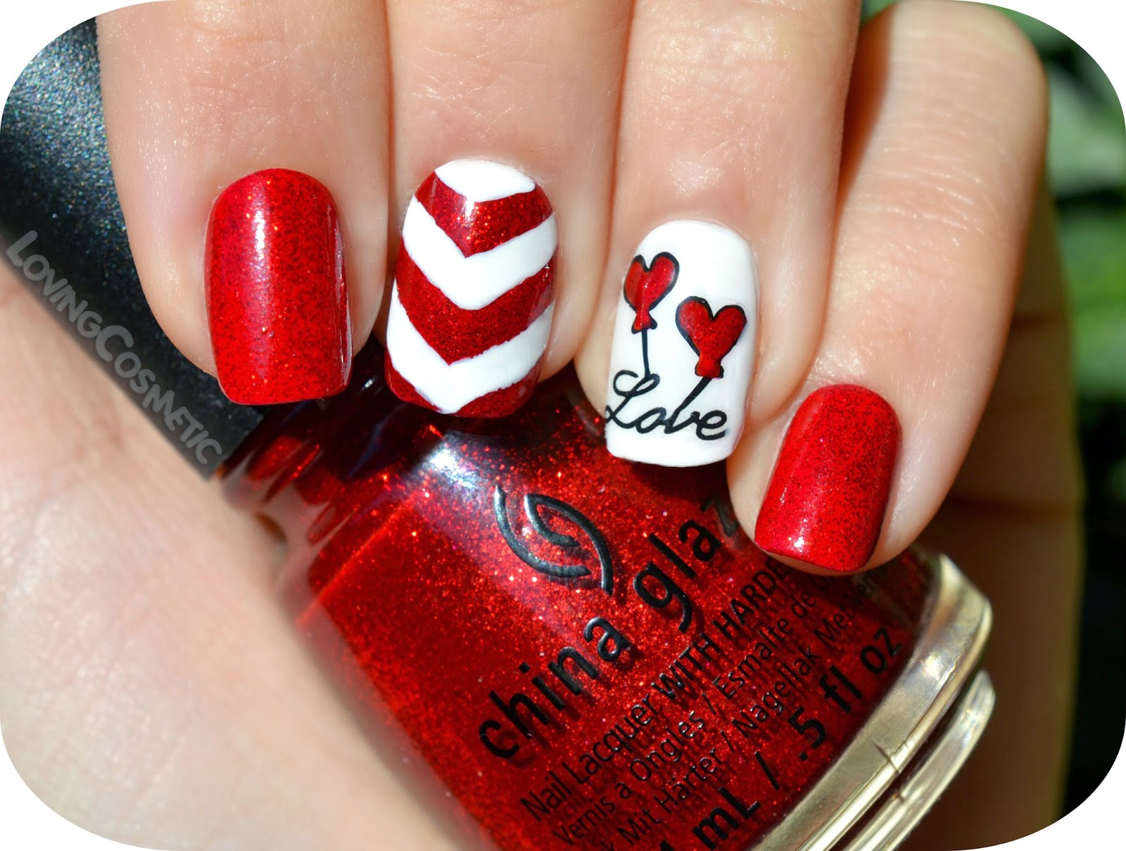 nail art Love balloons