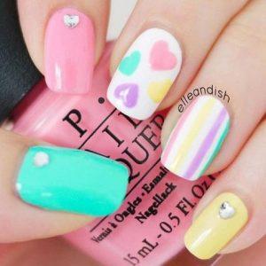 maquillaje uñas-san-valentin-colores-pastel